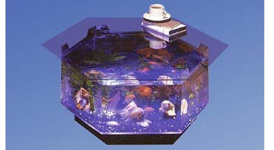 Long Octagon Aquarium Coffee Table